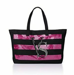 Victoria's Secret Limited Edition Black Pink Tote